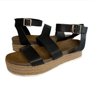 Patrizia Larissa Platform Sandal Black, EU 40 US 9